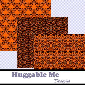 Halloween Paper - Black & Orange Da..