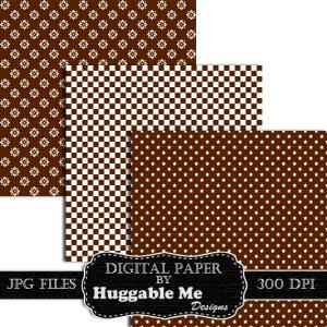 Digital Download Brown and White Pa..