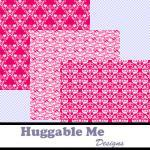 Digital Scrapbooking Paper Hot Pink..