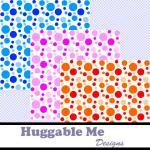 Digital Scrapbooking Paper Polka Do..