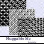 Digital Scrapbooking Paper Black an..