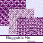 Purple Digital Scrapbooking Paper P..