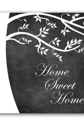 DIGITAL DOWNLOAD - Home Decor Art, INSTANT DOWNLOAD Home Art, Tree Wall Decor, Printable Modern Bedroom Decor, Chalkboard Art Print, Home Sweet Home - HOME46