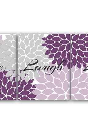 DIGITAL DOWNLOAD - Purple and Grey Bedroom Decor, Live Laugh Love, INSTANT DOWNLOAD Bath Art, Bedroom Wall Art, Printable Modern Bedroom Wall Decor - HOME70