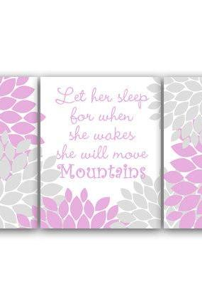 DIGITAL DOWNLOAD - Nursery Quote Art, Let Her Sleep, INSTANT DOWNLOAD, Printable Wall Art, Hawaiian Nursery, Lavender Nursery Decor - KIDS83