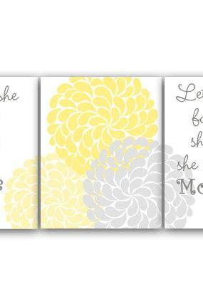 DIGITAL DOWNLOAD - Nursery Wall Art, Though She Be But Little She Is Fierce, INSTANT DOWNLOAD Kids Wall Art, Nursery Quote Art, Yellow Nursery Decor - KIDS109