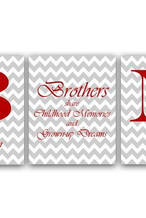 DIGITAL DOWNLOAD - Brothers Wall Art, Personalized Kids Name Art, Printable Wall Art, Brother Quote Print, Digital Download - KIDS16
