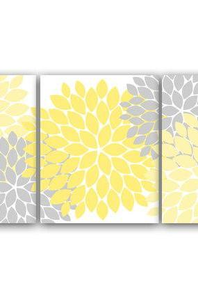 DIGITAL DOWNLOAD - Bathroom Wall Art, INSTANT DOWNLOAD Bath Art, Printable Modern Bedroom Decor, Yellow and Gray Nursery Art, Home Decor - HOME37