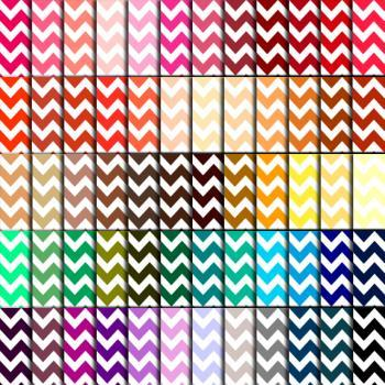 Chevron Scrapbook Paper (60 Colors) - Chevron Digital Paper for Wedding, Scrapbook Printables, Cards 12