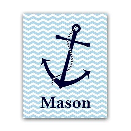 DIGITAL DOWNLOAD - Personalized Kids Wall Art, DIGITAL DOWNLOAD Nautical Kids Name Art, Printable Wall Art, Boys Room Decor, Nautical Nursery Art - KIDS41