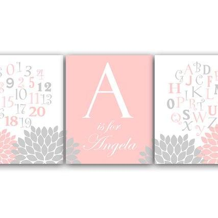 DIGITAL DOWNLOAD - Alphabet Art, Nursery Wall Art, DIGITAL Download Nursery Print, ABC Art, Personalized Kids Wall Art, Modern Nursery Art - KIDS70