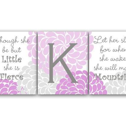 DIGITAL DOWNLOAD - Nursery Wall Art, She Be But Little, Let Her Sleep, DIGITAL DOWNLOAD Kids Wall Art, Nursery Quote Art, Lavender Nursery Decor - KIDS122